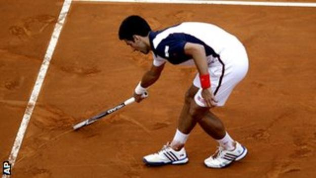 Djokovic drew a heart on the court moments after converting match point