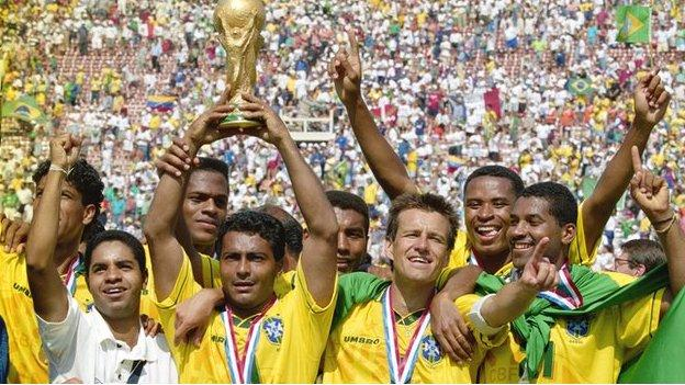 Brazil lift the 1994 World Cup