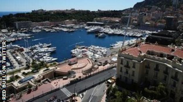 Red Bull team tweet pics of Monaco
