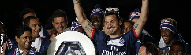 Paris St-Germain striker Zlatan Ibrahimovic