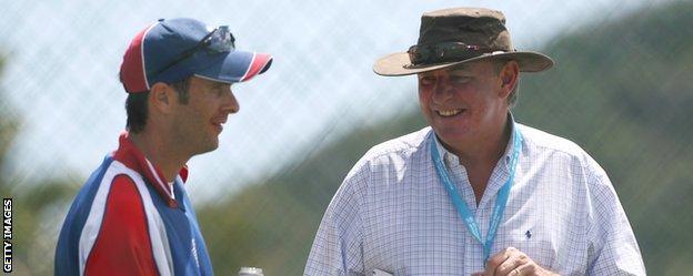 England captain Michael Vaughan (left) and David Graveney