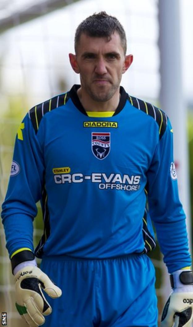Ross County goalkeeper Mark Brown