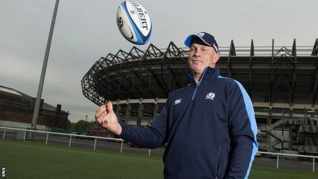 New Scotland head coach Vern Cotter