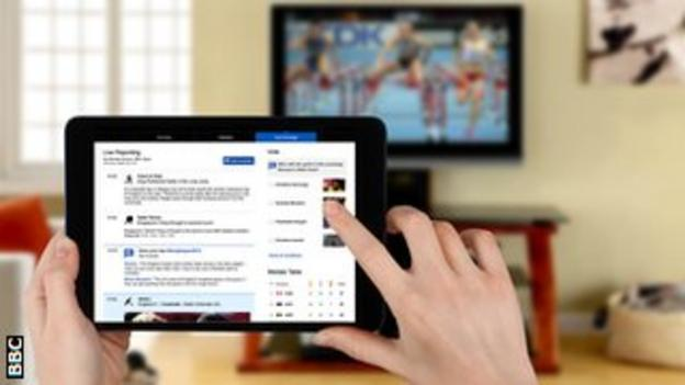 You can follow the Commonwealth Games on your tablet and TV at the same time