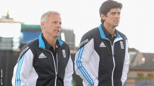 Peter Moores & Alastair Cook