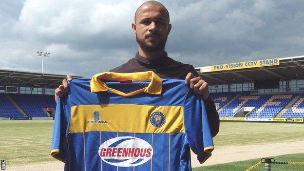 New Shrewsbury Town signing Ashley Vincent