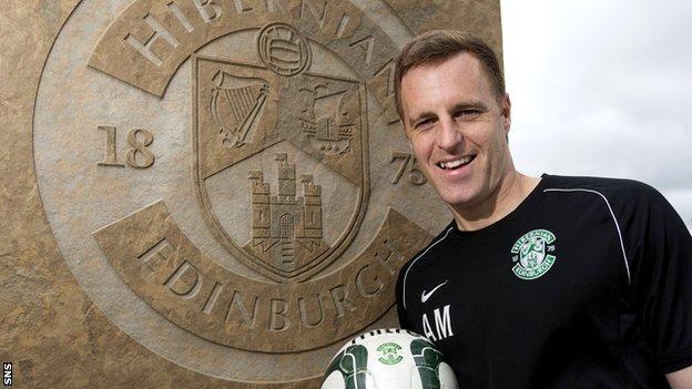Hibs defender Alan Maybury