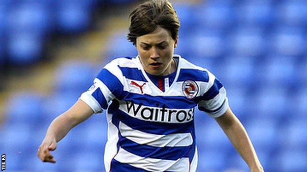 Francesca Kirby in action for Reading Ladies