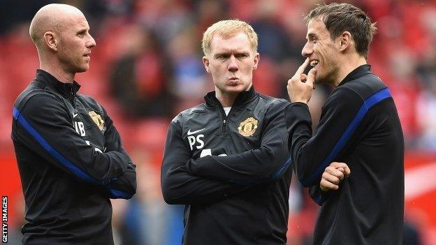 Nicky Butt, Paul Scholes and Phil Neville