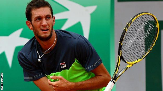 James Ward of Great Britain at the French Open
