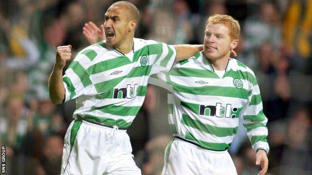 Henrik Larsson and Neil Lennon