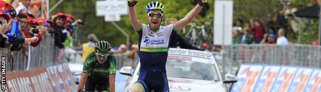 Pieter Weening wins stage nine