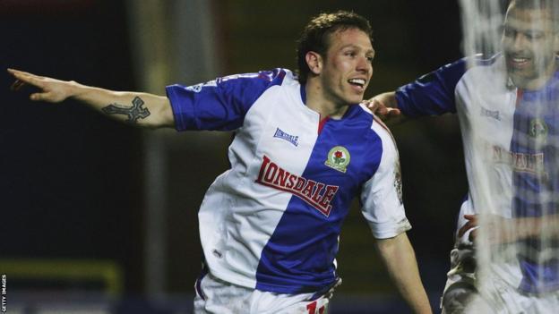 Bellamy scoring for Blackburn in the 05/06 season