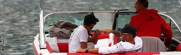 Lewis Hamilton Monaco Grand Prix boat