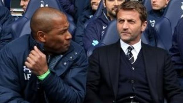 Les Ferdinand and Tim Sherwood