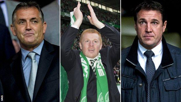 Owen Coyle, Neil Lennon and Malky Mackay