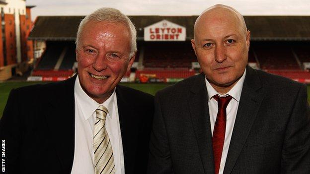 Barry Hearn and Russell Slade