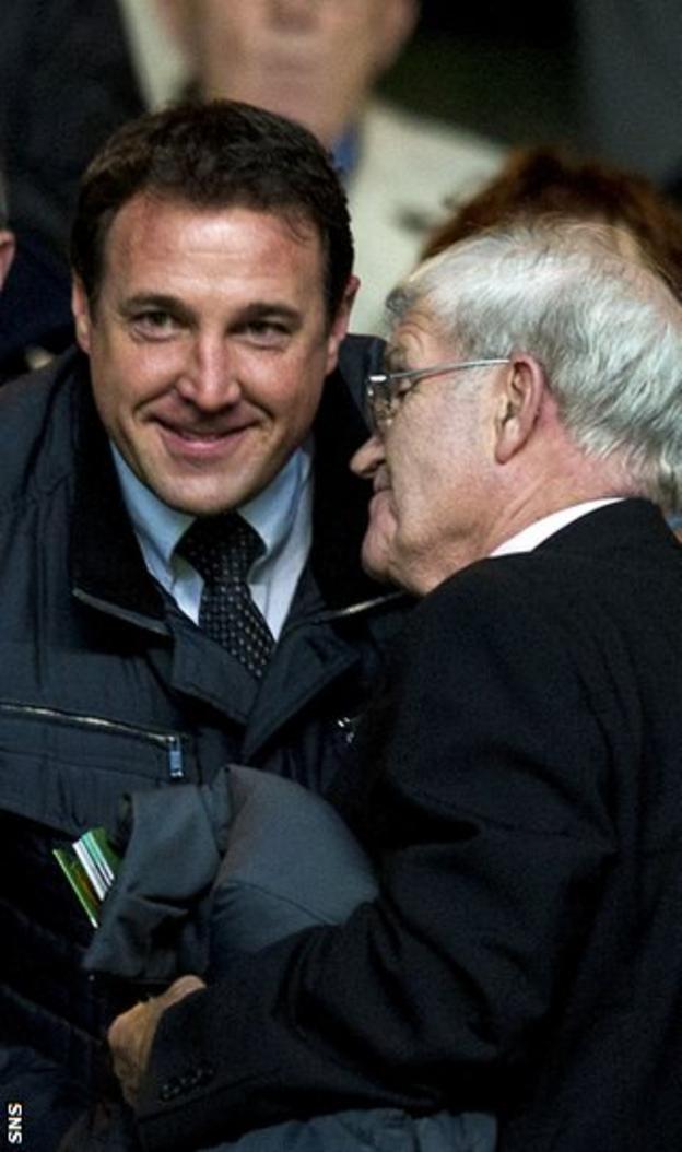 Malky Mackay talks to Celtic legend Bertie Auld