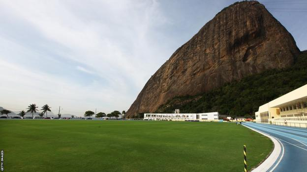 Sugar Loaf Mountain provides the backdrop to England's training camp in Rio
