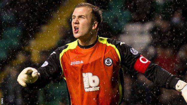 Partick Thistle goalkeeper Scott Fox