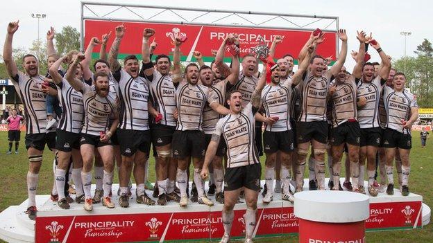 Pontypridd were the 2014 Principality Premiership winners