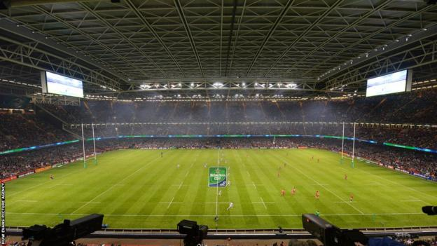The Millennium Stadium is set for the final Heineken Cup final between Saracens and Toulon.
