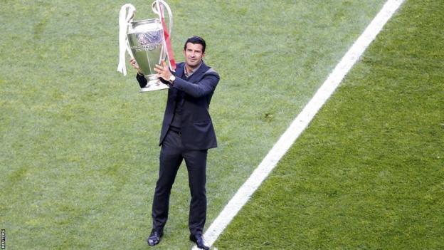 Luis Figo before Champions League final