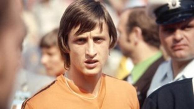 Johan Cruyff during the 1974 World Cup