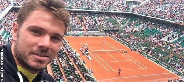 Wawrinka at Roland Garros