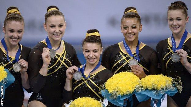 Britain's womens gymnastics team