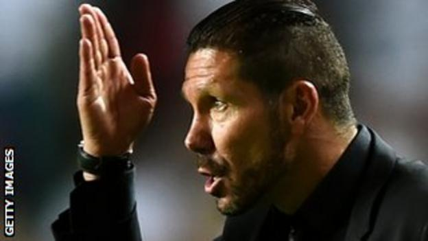 Atletico Madrid boss Diego Simeone led his side to the Spanish league title this season.