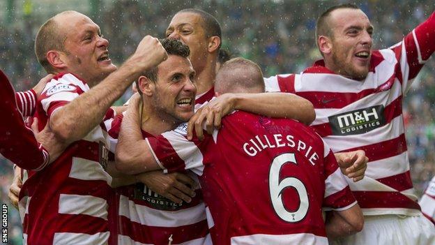 Hamilton won promotion to the Premiership on Sunday