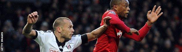 Fulham defender John Heitinga