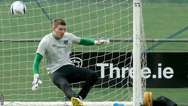 Ian Lawlor trains with the Republic squad on Monday