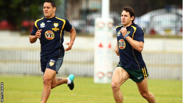 Jarryd Hayne and Billy Slater