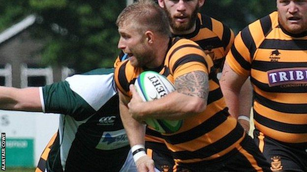 Cornwall's Greg Goodfellow playing against Hertfordshire