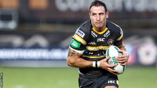 Castleford Tigers second-row forward Lee Gilmour