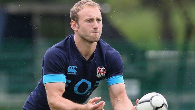 Worcester Warriors full-back Chris Pennell at his first England training session