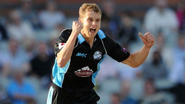 Worcestershire pace bowler Charlie Morris
