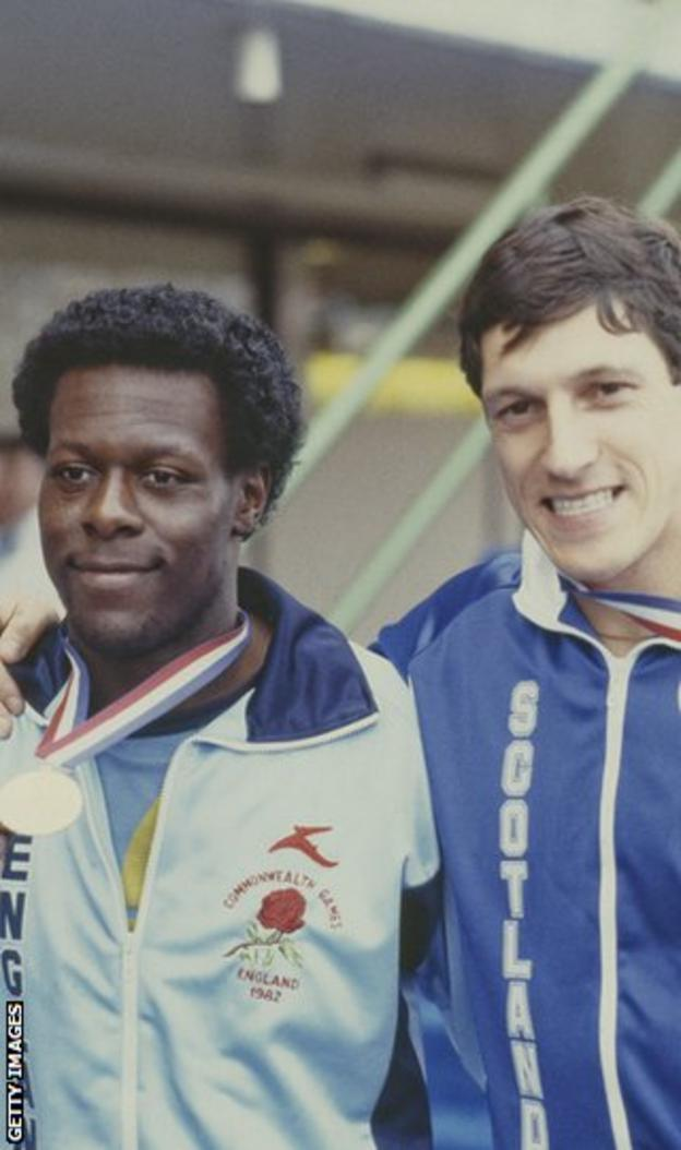 Wells finished tied for 1st place alongside Mike McFarlane in the 200m final of the 1982 Commonwealth Games.