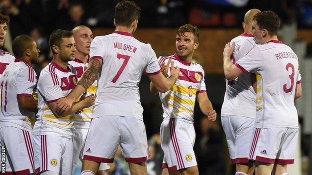 Scotland drew 2-2 with Nigeria ay Craven Cottage