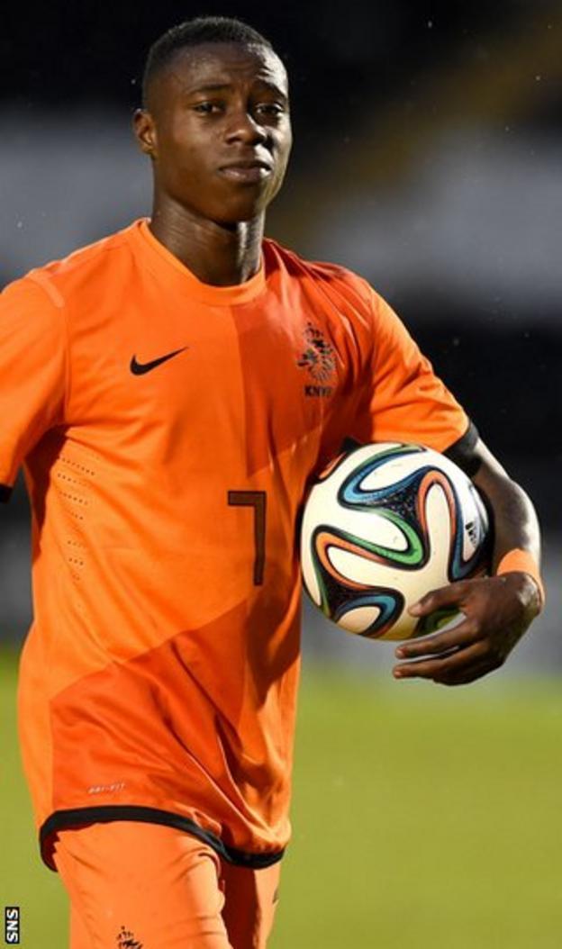Netherlands Under-21 striker Quincy Promes