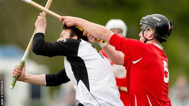 Action from the McTavish cup semi-final