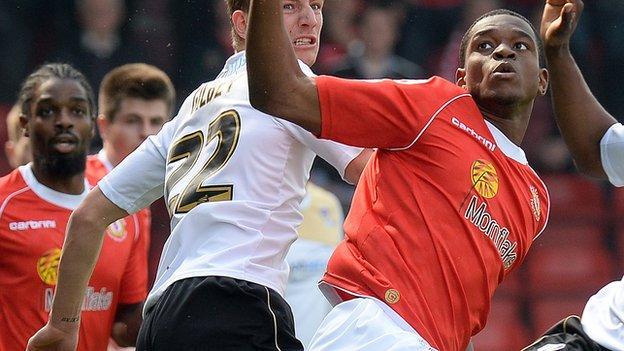 Crewe Alexandra loan striker Uche Ikpeazu