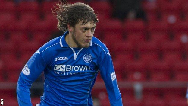 St Johnstone midfielder Murray Davidson