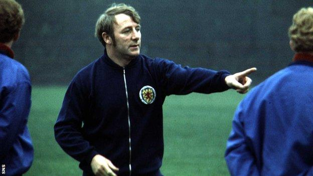 Former Scotland manager Tommy Docherty