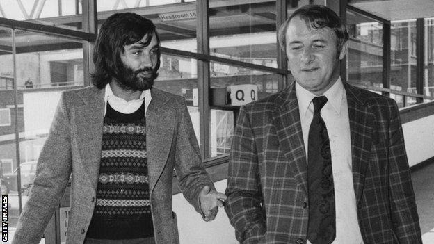 George Best and Tommy Docherty