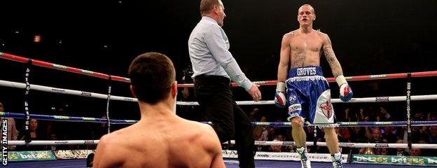 George Groves knocked Carl Froch down in the opening round of their first fight