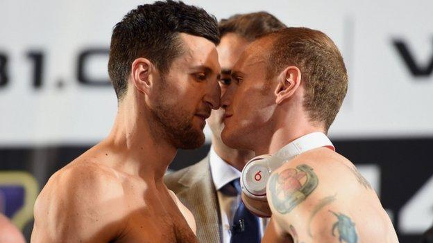 Carl Froch (l) and George Groves