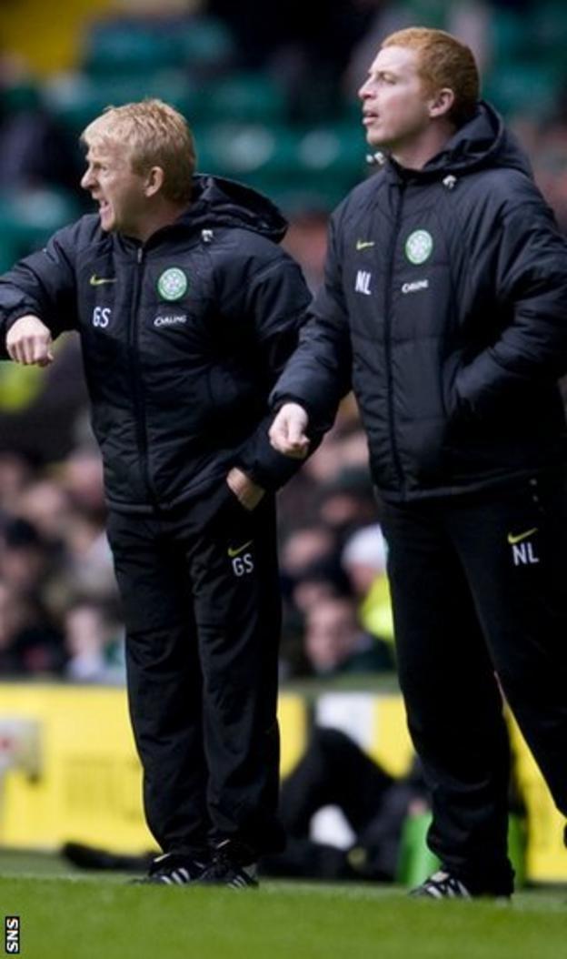 Former Celtic managers Gordon Strachan and Neil Lennon